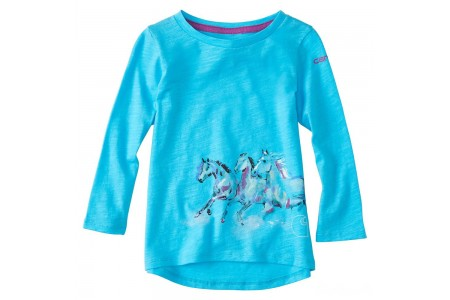 last chance carhartt ca9620 - wrap horse tee girls bachelor button best price limited sale