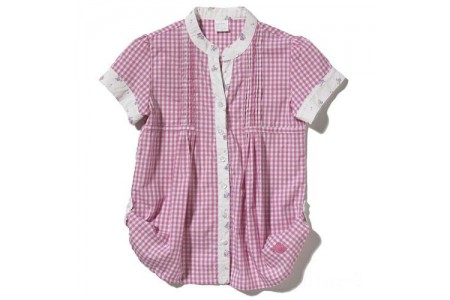 last chance carhartt ce9104 - woven gingham top girls pink limited sale best price