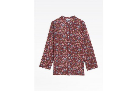 last chance red mili tunic blouse with floral print limited sale best price