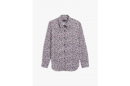 best price navy blue zorro shirt with flowers print limited sale last chance