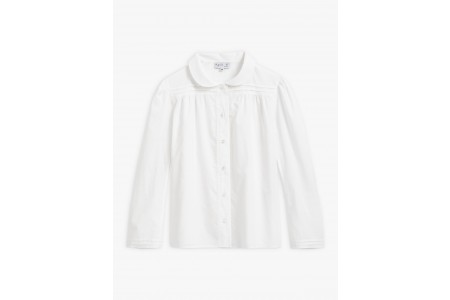 best price white cotton voile alice shirt last chance limited sale