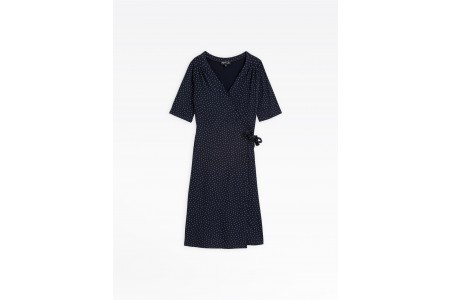 best price navy blue polka dot mouette dress last chance limited sale