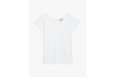 best price white short sleeves harpe t-shirt last chance limited sale