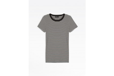 best price black and white striped boogie t-shirt limited sale last chance