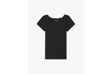 last chance black short sleeves chic t-shirt limited sale best price