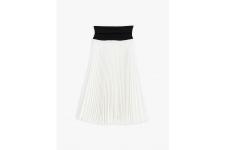 best price white baïa pleated skirt last chance limited sale