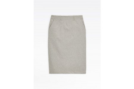 limited sale black and white skirt with thin stripes best price last chance