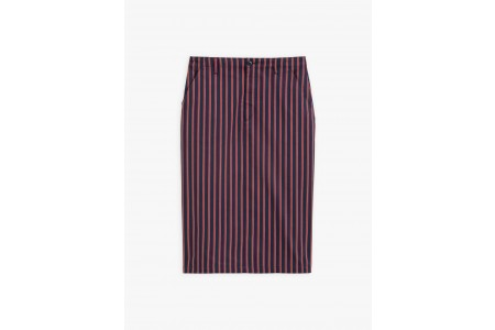 best price navy blue striped skirt last chance limited sale