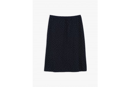 limited sale navy blue polka dots sharon skirt best price last chance