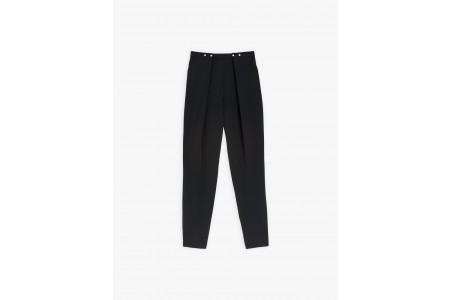 best price black perline pants with glittery press studs last chance limited sale
