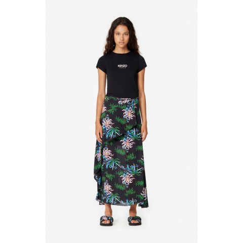 last chance sea lily' maxi skirt - black limited sale best price