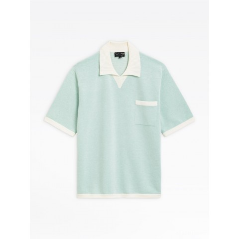 best price light green piqué knit cup polo shirt limited sale last chance