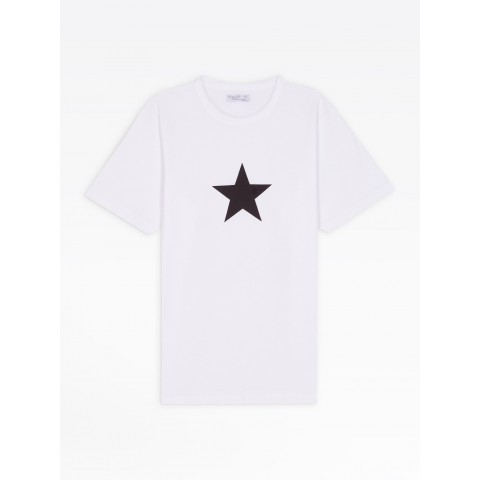 best price white short sleeves star men's t-shirt limited sale last chance
