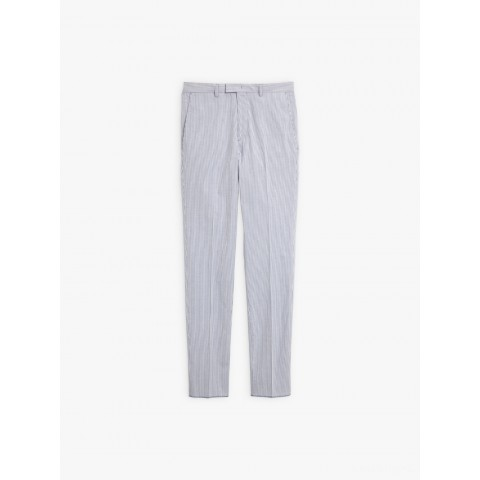 best price blue and white jamming pants with fine stripes last chance limited sale