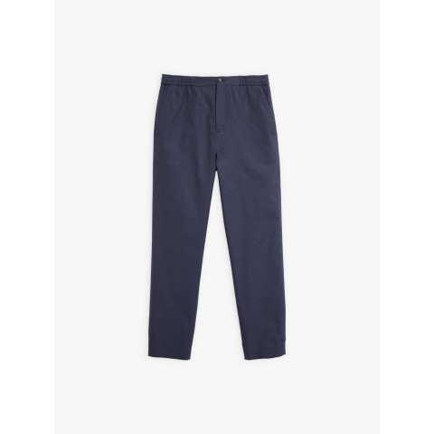 last chance navy blue noam pants with thin stripes limited sale best price