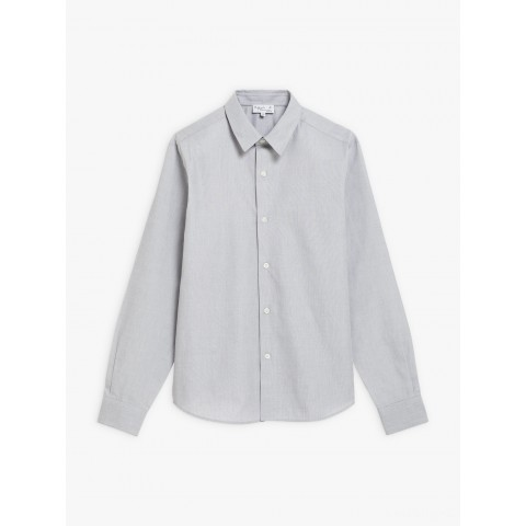 limited sale pearl grey cotton syd shirt last chance best price