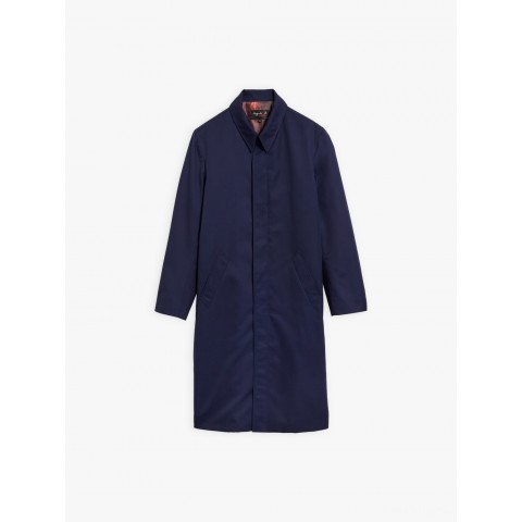 last chance navy blue water-repellent coat limited sale best price