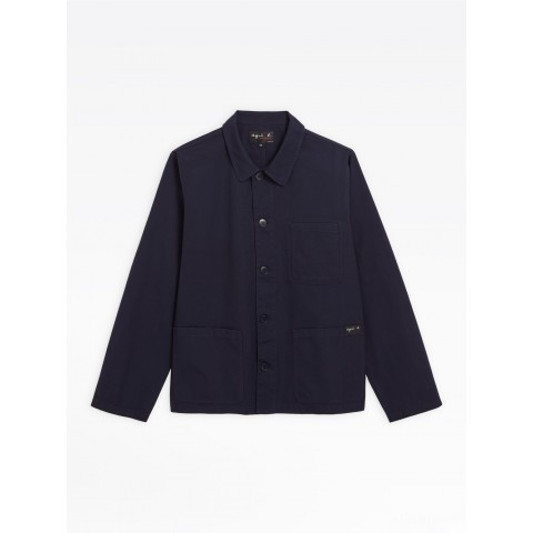 last chance navy blue washed cotton armand jacket best price limited sale
