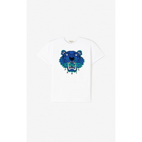 limited sale 'racing' tiger t-shirt - white best price last chance