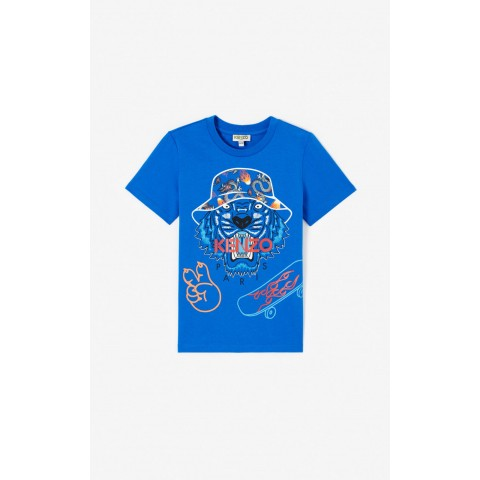 best price 'cali party' tiger t-shirt. - royal blue last chance limited sale