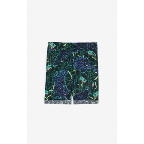 limited sale 'disco jungle' shorts with turn-ups - black last chance best price