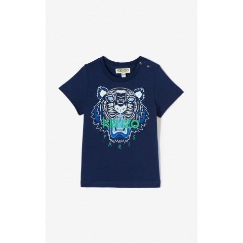 limited sale tiger t-shirt - navy blue best price last chance