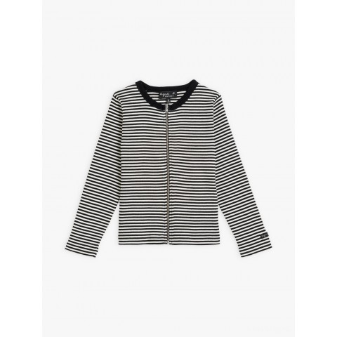 last chance black and white zipped be bop cardigan with stripes best price limited sale