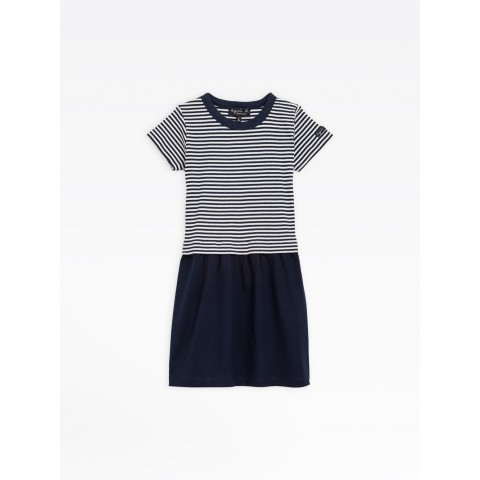 limited sale navy blue and white road dress best price last chance