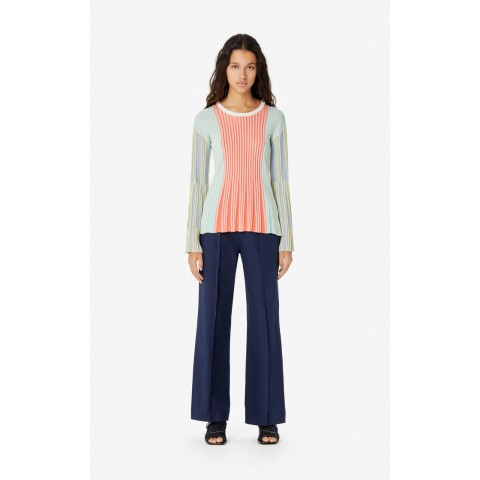 best price iridescent pleated jumper - multicolor last chance limited sale
