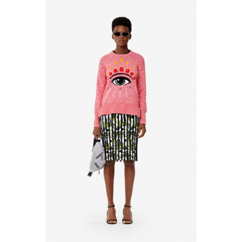 limited sale embroidered eye jumper - pastel pink last chance best price