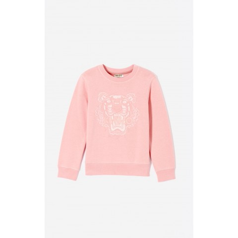 best price tiger sweatshirt - faded pink last chance limited sale