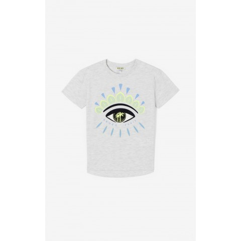 best price 'cali party' eye t-shirt - pale grey last chance limited sale