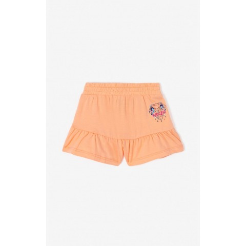 last chance 'disco jungle' frilly shorts - peach limited sale best price