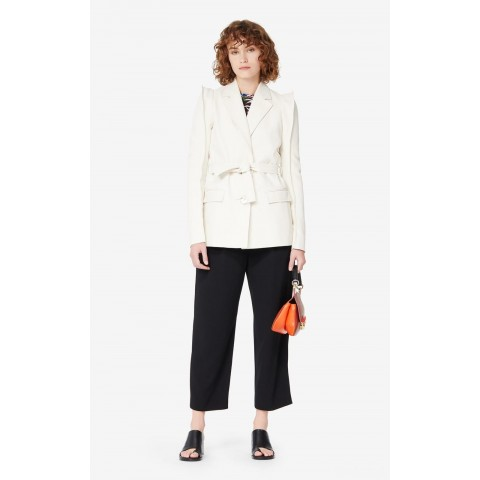 last chance belted jacket - off white best price limited sale