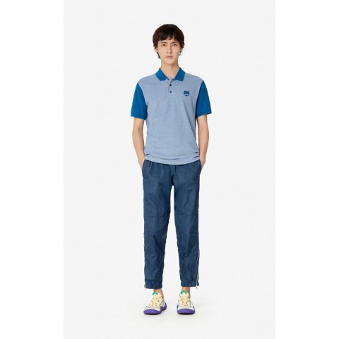 best price fitted tiger polo shirt - blue last chance limited sale