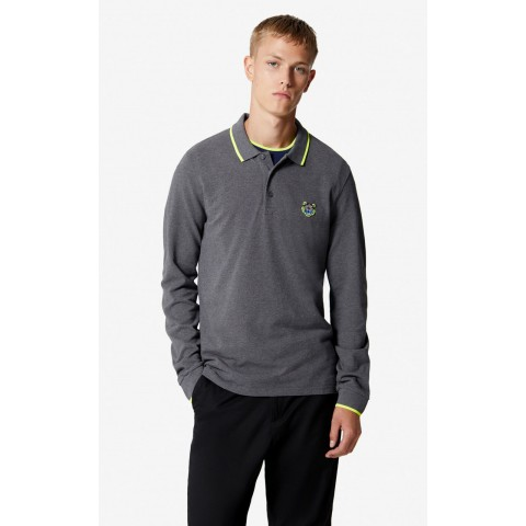 limited sale long sleeve tiger polo shirt - dark grey last chance best price