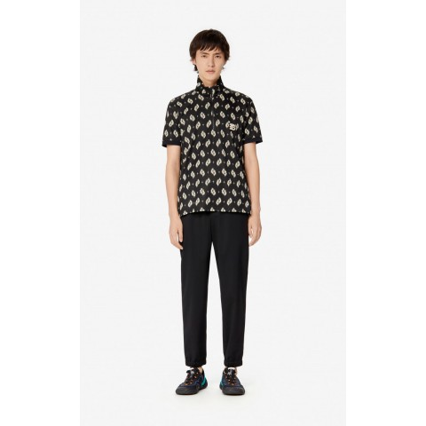 best price 'ikat' polo shirt - black last chance limited sale