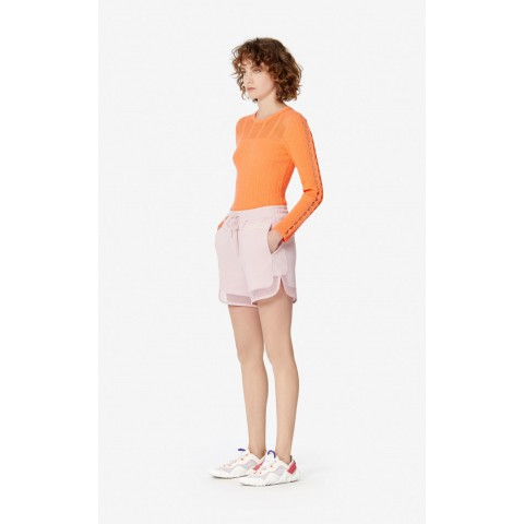 limited sale dual-material shorts - faded pink last chance best price
