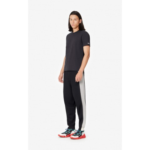 last chance dual-material joggers - black best price limited sale