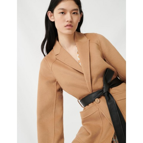 last chance camel belted coat - best price limited sale