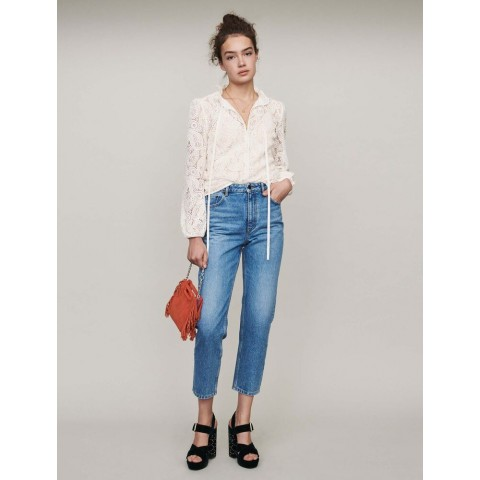 limited sale high-waisted jeans - blue last chance best price