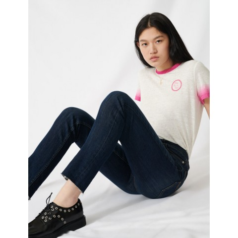 best price high-waisted slim-fit jeans - blue last chance limited sale