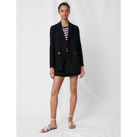 limited sale double-breasted jacket - black last chance best price