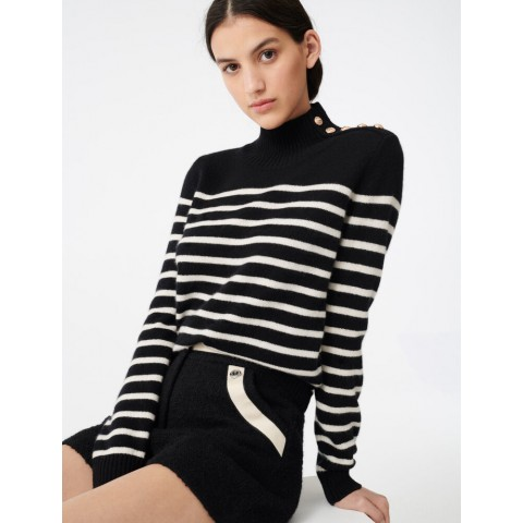 best price sailor-style cashmere sweater - black limited sale last chance