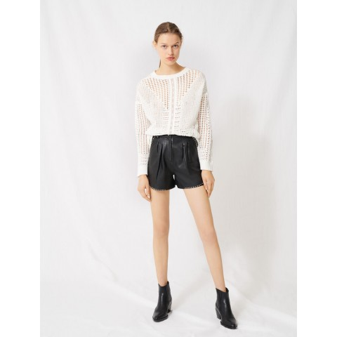 limited sale crochet-style sweater - white last chance best price