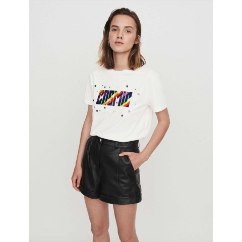limited sale cuffed shorts with topstitching - black best price last chance