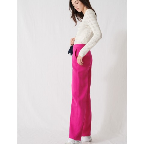 last chance fuchsia tailored trousers - limited sale best price