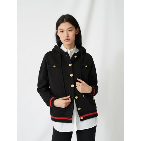 limited sale hoodie with sequin embroidery - black best price last chance