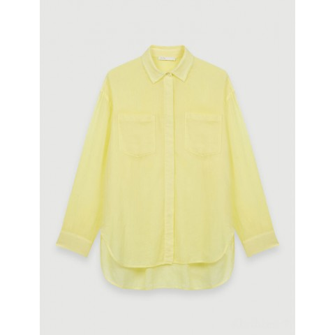 last chance airy shirt - pale yellow limited sale best price