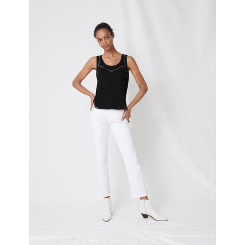 limited sale studded black tank top - last chance best price